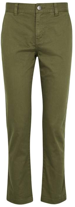 Current/Elliott The Confidant Olive Cropped Trousers