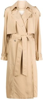 MICHAEL Michael Kors Tab Shoulder Trench Coat