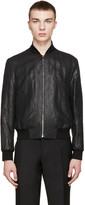 Paul Smith Black Metallic Bomber Jacket