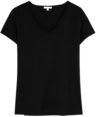 Skin Black Pima Cotton Pyjama Top