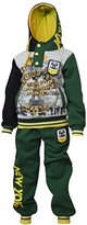 Eskaay Kids Boys Sweatsuit Tracksuit Sweatshirt Sweatpant Hooded Two Piece Set Charcoal
