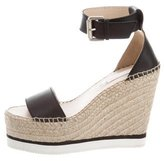 See by Chloe Leather Espadrille Wedges w/ Tags