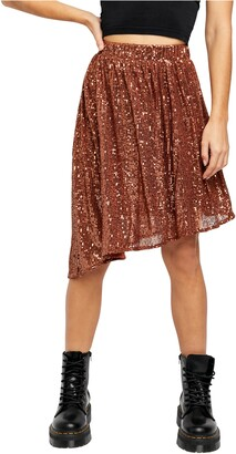 Free People Last Dance Sequin Asymmetrical Skirt