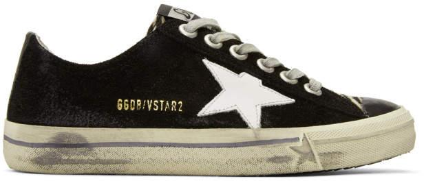 Golden Goose Black Suede V-Star 2 Sneakers