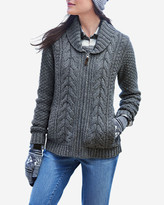 Eddie Bauer Women's Cable Fable Sweater Coat