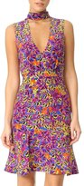Saloni Fleur Printed Dress Fuschia