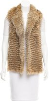 Vince Fur Shawl Collar Vest