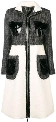 Elisabetta Franchi fitted silhouette coat