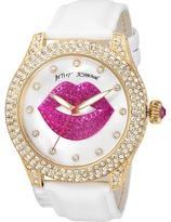 Betsey Johnson BJ00019-72 - Crystal Lips Strap Watches