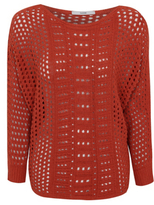 George Open Knit Bat-Wing Jumper