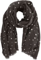 Mint Velvet Grey Abstract Spotty Scarf