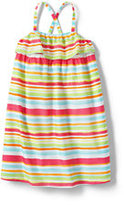 Classic Girls Plus Woven Tank Dress-Seashell Print