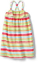 Classic Little Girls Woven Tank Dress-Seashell Print