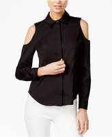 Bar III Cold-Shoulder Shirt, Created for Macy's