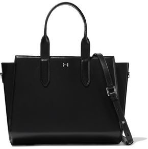 Halston East West Leather Tote