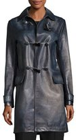 Valentino Ombre Leather Toggle Coat