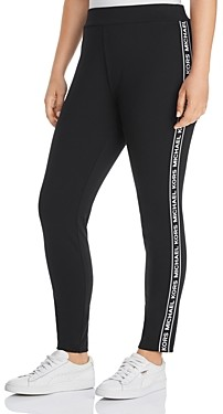 MICHAEL Michael Kors Logo Stripe Leggings