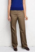 Classic Women's Petite Hidden Elastic Trouser Pants-Sea Cliff Blue Plaid