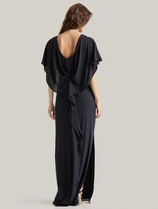 Halston Drape Back Gown