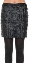 Max Studio Tiered Leatherette Skirt