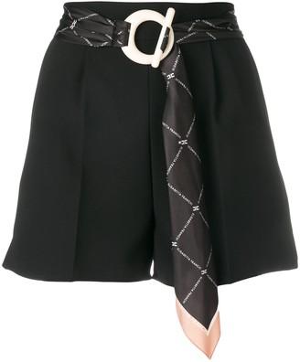 Elisabetta Franchi Belted Tailored Shorts