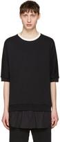 3.1 Phillip Lim Black Short Sleeve Pullover