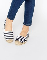 London Rebel Stripe Espadrilles