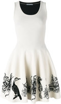 Alexander McQueen sea creature embroidered dress - women - Polyamide/Polyester/Spandex/Elastane/Viscose - XS