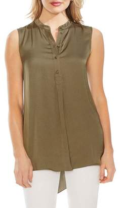 Vince Camuto Sleeveless Rumple Henley Tunic (Regular & Petite)