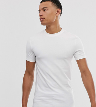 Asos Design DESIGN Tall organic muscle fit t-shirt with crew neck in white