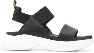 Pollini Two Tone Platform Sandals