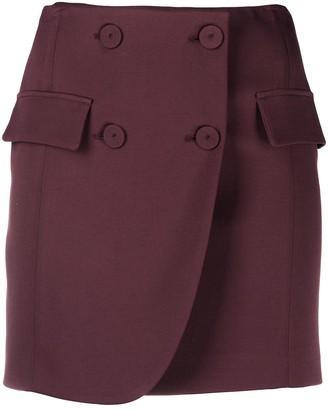 Patrizia Pepe Buttoned Wrap Skirt