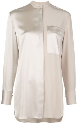 Co Contrast Satin Shirt