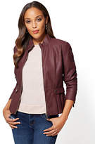 New York & Co. Faux-Leather Peplum Jacket