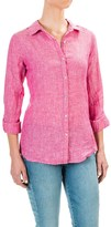 Jones New York Cross-Dye Linen Shirt - Roll-Up Long Sleeve (For Women)