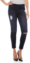 Celebrity Pink Slit Knee Ankle Skinny Jeans