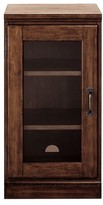 Pottery Barn Printer's Glass Door Cabinet, Artisanal Black
