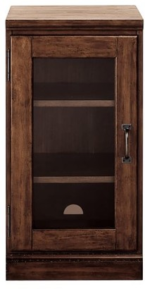 Pottery Barn Printer's Glass Door Cabinet, Artisanal Black
