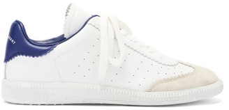 Isabel Marant Bryce Leather And Suede Trainers - Blue White