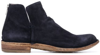 Officine Creative Rear-Zip Ankle Boots