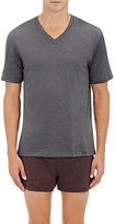Hanro Men's Mélange Cotton V-Neck T-Shirt-DARK GREY