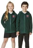 F&F Unisex Embroidered School Zip-Through Fleece with Hood