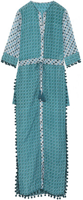 Talitha Collection Ira Embellished Cotton And Silk-blend Coverup