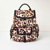 River Island Womens Cream leopard print backpack