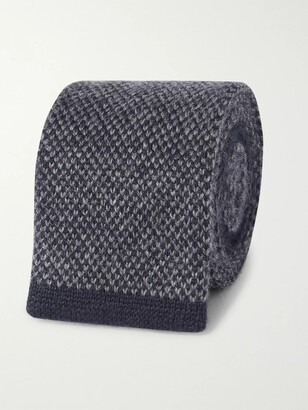 Brunello Cucinelli 5.5cm Contrast-Tipped Melange Knitted Cashmere Tie