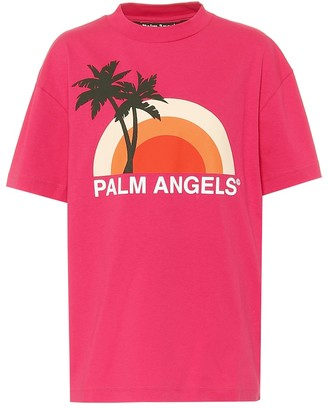 Palm Angels Rainbow cotton-jersey T-shirt