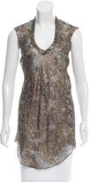 Isabel Marant Metallic Silk Tunic w/ Tags