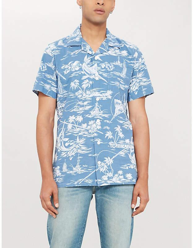 f00d8fec Swordfish print custom-fit linen shirt