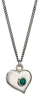 Chan Luu Women's Sterling Silver & Green Turquoise Heart Pendant Necklace