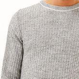 River Island Mens Grey marl ribbed slim fit sweater